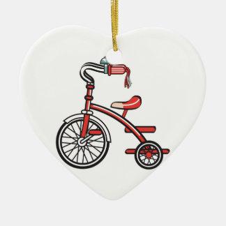 retro tricycle ceramic heart decoration