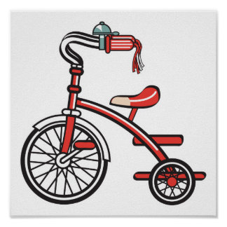 retro tricycle posters