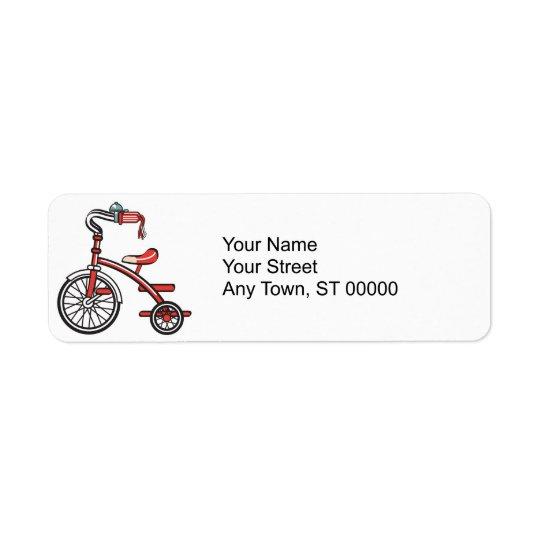 retro tricycle return address label