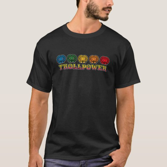 retro trollpower dark shirts