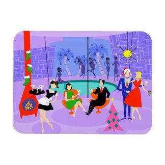 Retro Tropical Christmas Party Flexi Magnet