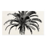 Retro Tropical Island Palm Tree in Black and White Pack Of Standard Business Cards
