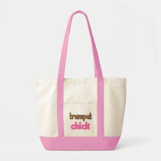 Retro Trumpet Chick Gift Impulse Tote Bag