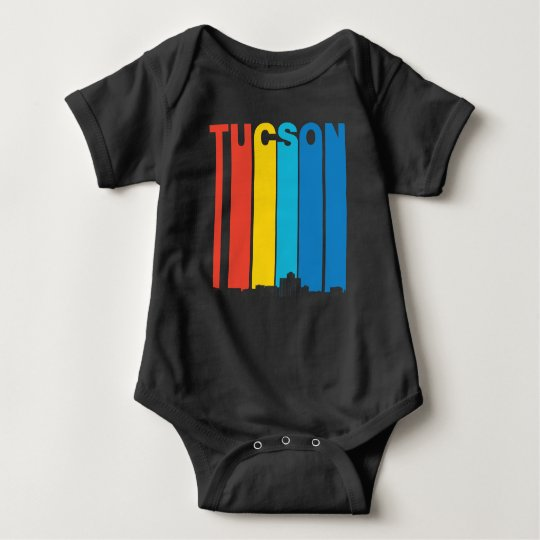Retro Tucson Arizona Skyline Baby Bodysuit