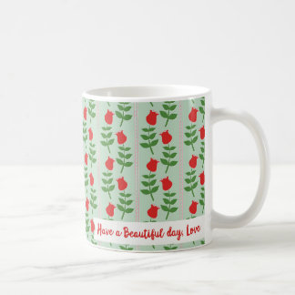 Retro Tulip Design Have a Beautiful Day, Love Mug