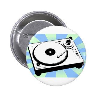 Retro Turntable Pinback Button