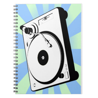 Retro Turntable Spiral Notebooks