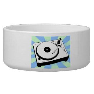 Retro Turntable Dog Water Bowl
