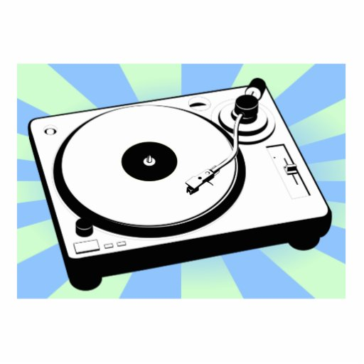Retro Turntable Photo Cut Outs