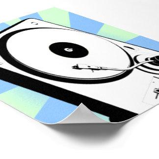 Retro Turntable Print