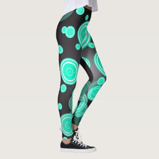 Retro Turquoise Circles Leggings