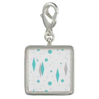 Retro Turquoise Diamond & Starburst Charm