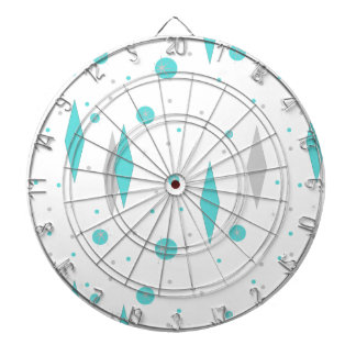 Retro Turquoise Diamond & Starburst Dart Board