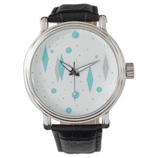 Retro Turquoise Diamond & Starburst eWatch Watch
