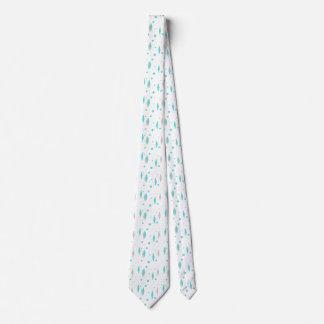 Retro Turquoise Diamond & Starburst Necktie