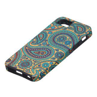 Retro Turquoise Paisley iPhone 5 Cover