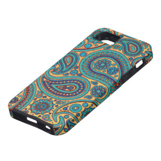 Retro Turquoise Paisley iPhone 5 Case