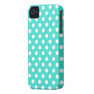 Retro Turquoise Polka Dots iPhone 4s Case iPhone 4 Case