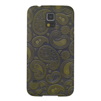 Retro Turquoise Rainbow Paisley motif Case For Galaxy S5
