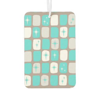 Retro Turquoise Starbursts Air Freshener