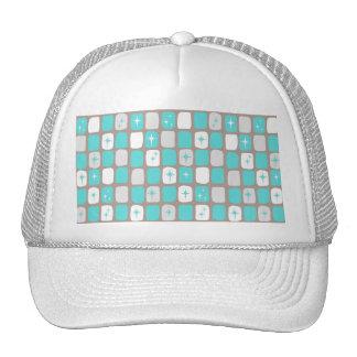 Retro Turquoise Starbursts Trucker Hat