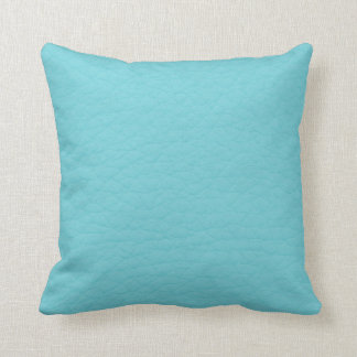 Retro Turquoise Teal Leather Custom Throw Pillow