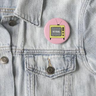 Retro TV 6 Cm Round Badge