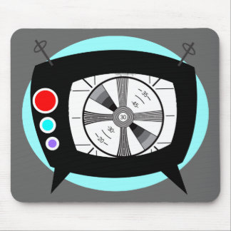 Retro TV and Test Pattern Mouse Mat
