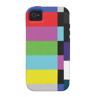 Retro TV Color Code VCR Bars Vibe iPhone 4 Covers