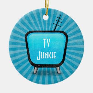 Retro TV Junkie Christmas Ornament