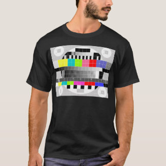 Retro TV multicolor signal test pattern T-Shirt