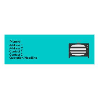 Retro TV Profile Cards Business Card Templates