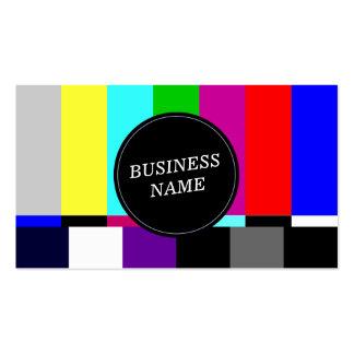 Retro TV Screen Advertising Business Card