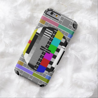Retro TV Text Pattern Barely There iPhone 6 Case