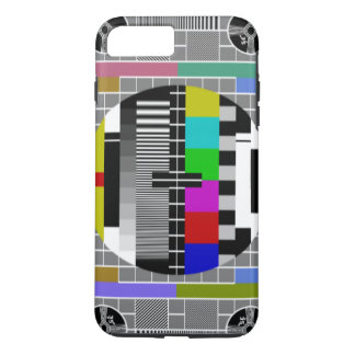 Retro TV Text Pattern iPhone 7 Plus Case
