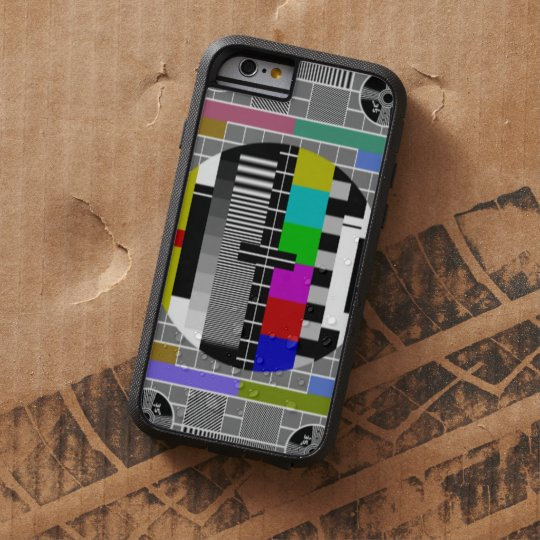 Retro TV Text Pattern Tough Xtreme iPhone 6