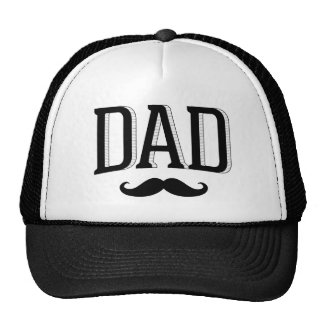 Retro Typography Dad Moustache Father's Day Cap