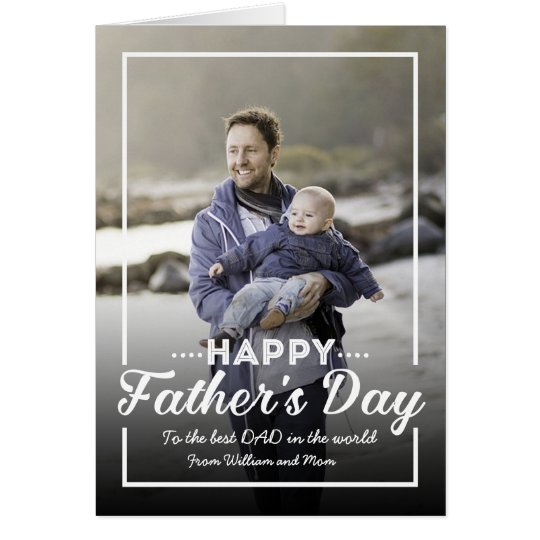 Retro Typography Father's Day Photo Greeting Card