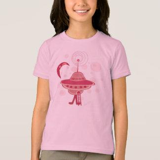 Retro UFO Girl T-Shirt