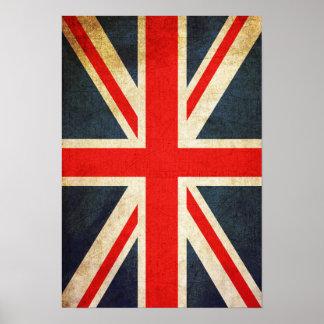 Retro Union Jack British Flag Poster