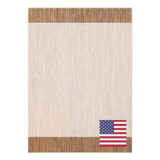 Retro United States Flag 13 Cm X 18 Cm Invitation Card