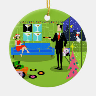Retro Urban Christmas Couple Christmas Ornament
