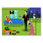 Retro Urban Couple Christmas Card