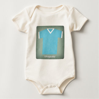 Retro Uruguay  Football Jersey Baby Bodysuit