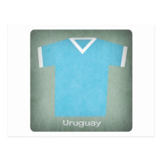 Retro Uruguay  Football Jersey Postcard