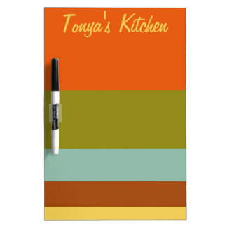 Retro Vacation Palette Stripes Dry Erase Board