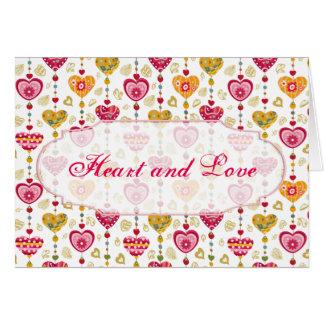 Retro Valentine Heart Greeting Card