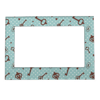 Retro Valentine Keys Magnetic Picture Frames