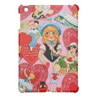 Retro Valentine Red Doily Girl Case For The iPad Mini