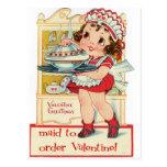 Retro Valentine's Day Maid Postcards
